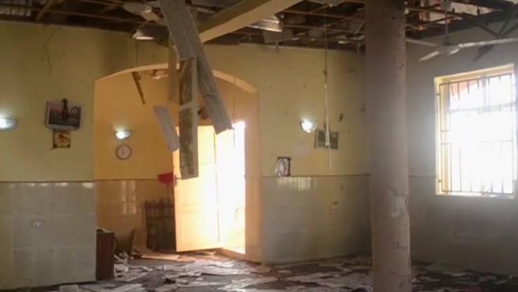 Das Innere der Moschee nach dem tödlichen Anschlag.