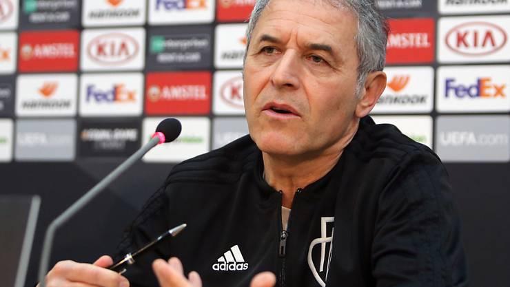 Marcel Koller äussert sich vor dem Europa-League-Hinspiel in Nikosia vor allem zu den vielen Absenzen