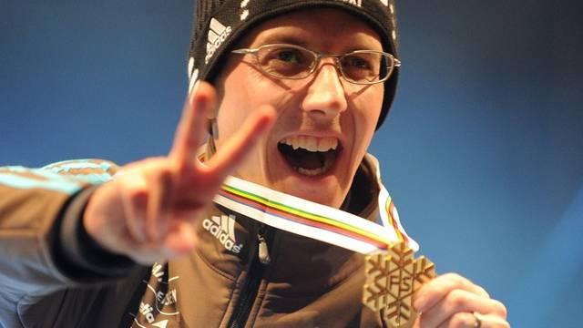 Erfolgreich: Simon Ammann an der Skiflug-WM 2010 in Planica (Archiv)