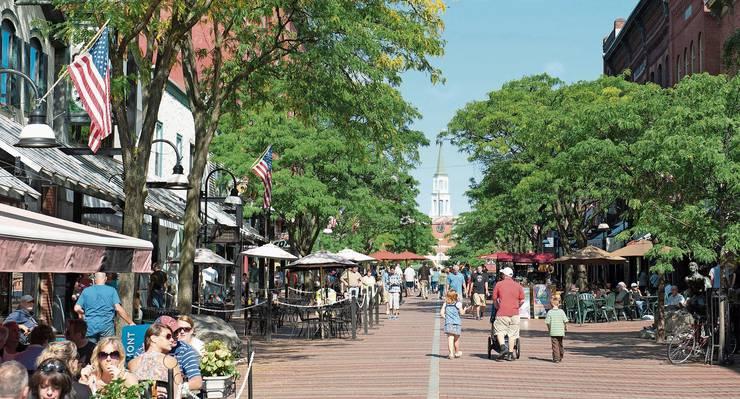 Burlington, Vermont: Bernie Sanders hat die Kleinstadt an der kanadischen Grenze acht Jahre lang als Bürgermeister regiert – äusserst pragmatisch.