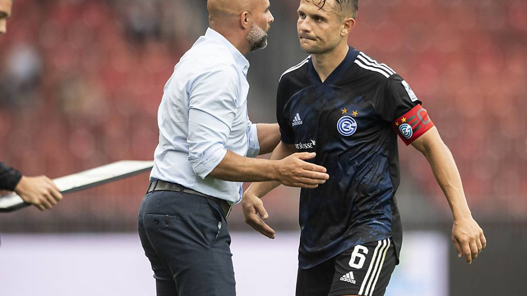 Trainer Giorgio Contini und Rückkehrer Amir Abrashi lassen es an Einsatz nicht fehlen