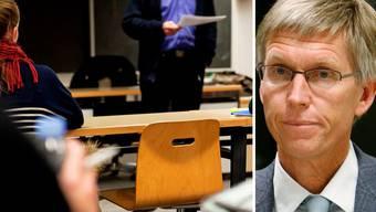 Martin Burkard, Rektor der Alten Kantonsschule Aarau (r.) bedauert den Wegzug der WMS.