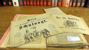Die Unterlagen zur Schulgesetz-Abstimmung vom 26. November 1882 inklusive «Propagandamaterial» von Gegnern und Befürwortern liegen bestens konserviert im Staatsarchiv.