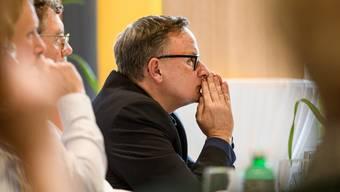 Da hilft auch kein Beten: Der einzige Kandidat, Werner Scherer, ist von den Mitgliedern des Staatspersonalverbands nicht gewählt worden.