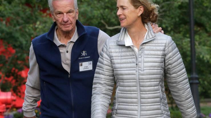 Der öffentlichkeitsscheue Bier-Milliardär Jorge Paulo Lemann ist ein Freund, Geschäftspartner und bald auch Nachbar von Roger Federer. Seine Frau Susanna Mally sitzt im Stiftungsrat von Federers Stiftung (Bild: Keystone).