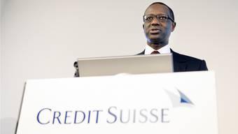 Tidjane Thiam in Zürich: Seine Ernennung zum designierten CS-Chef sorgte für heftige Reaktionen.  Keystone