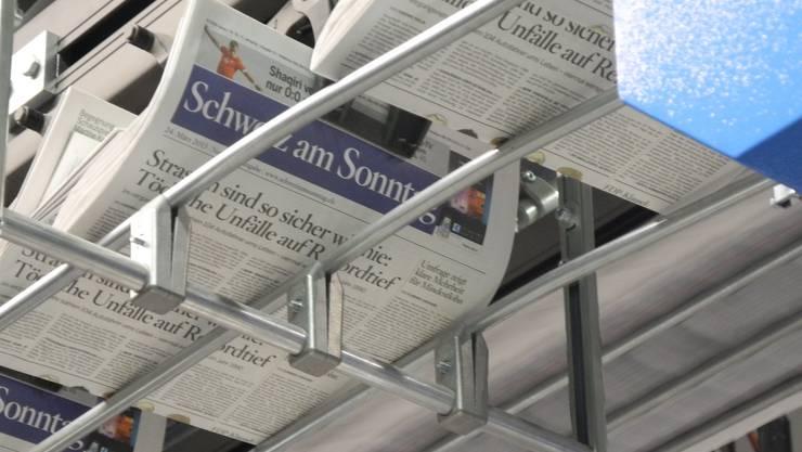 Die erste Ausgabe der «Schweiz am Sonntag» befindet sich im Druck