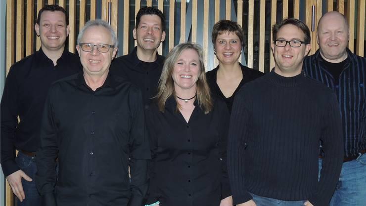 Das Organisationskomitee der ersten «Langen Nacht der Musik» in Kaiseraugst mit (v.l.) Valentin Sacher, Dieter John, Clemens Schmid, Katja Widrig, Samantha Freivogel, Andreas Schätti und Dirk Meiwes.