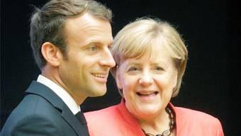 Staatspräsident Macron und Bundeskanzlerin Merkel. (Archiv)