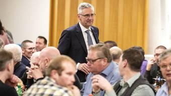 Andreas Glarner bei den Aargauer SVP-Delegierten. Die Sehnsucht nach einem charismatischen Anführer ist gross in der Partei.
