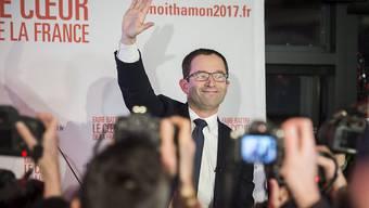 Überraschungssieger der französischen Linken: Benoît Hamon zieht in die Stichwahl um die Präsidentschaftskandidatur ein.