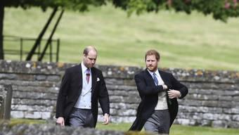 Prinz William (links) und Prinz Harry haben am Samstag das renovierte Grab ihrer Mutter Diana besucht. Die Prinzessin wäre an diesem Tag 56 Jahre alt geworden. (Archivbild)