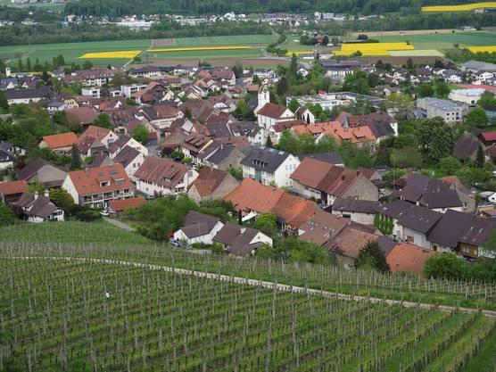 Der geplante Rundweg bietet reizvolle Blicke herunter auf Schinznach.