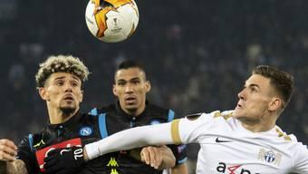 Benjamin Kololli (ganz rechts) erzielte im Hinspiel des FCZ gegen Napoli wenigstens noch den Ehrentreffer für den Super-League-Klub