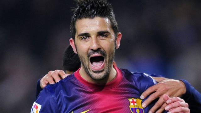 Zweifacher Torschütze für Barcelona: David Villa