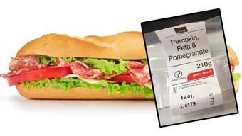 Ein Salami-Käse- oder ein Salami-Cheese-Sandwich?