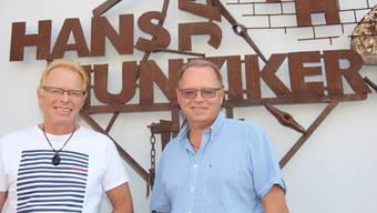 Die beiden Firmeninhaber Jörg Hunziker (links) und Markus Hunziker. Peter Weingartner
