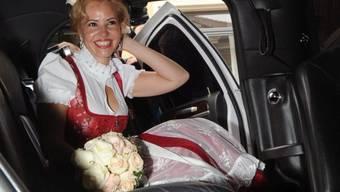 Luzandra Strassburg-Blanco gleich nach der Hochzeit