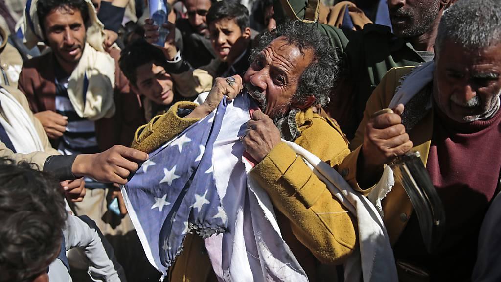 US-Aussenministerium will Terror-Einstufung der Huthis kippen