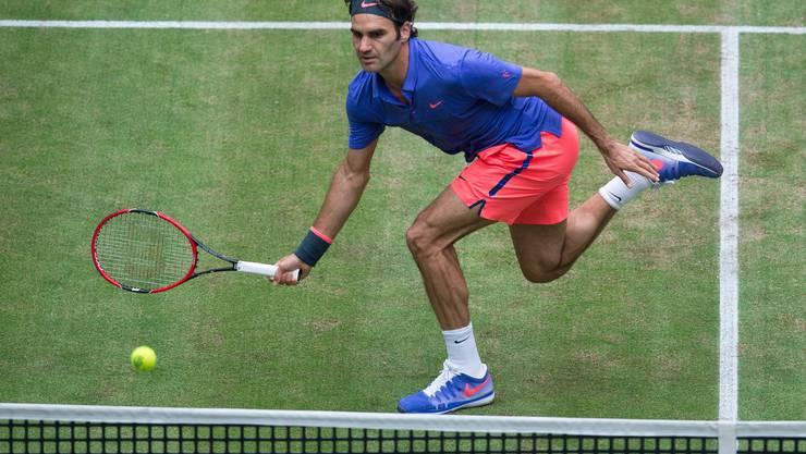 Roger Federer hat zum achten Mal das Turnier von Halle gewonnen.