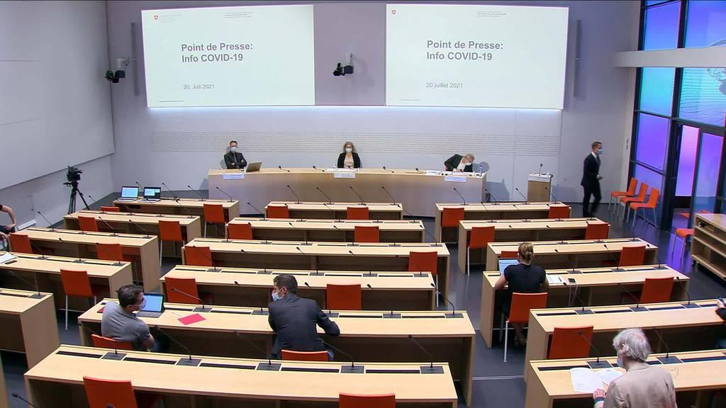 Fachebene Bund: Aktuelle Covid-19-Situation in der Schweiz