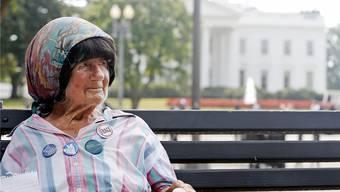 Nach drei Jahrzehnten Protest für immer verstummt: Concepcion Picciotto hat seit 1981 in Washington gegen die atomare Aufrüstung demonstriert.Charles Dharapak/AP/KEY