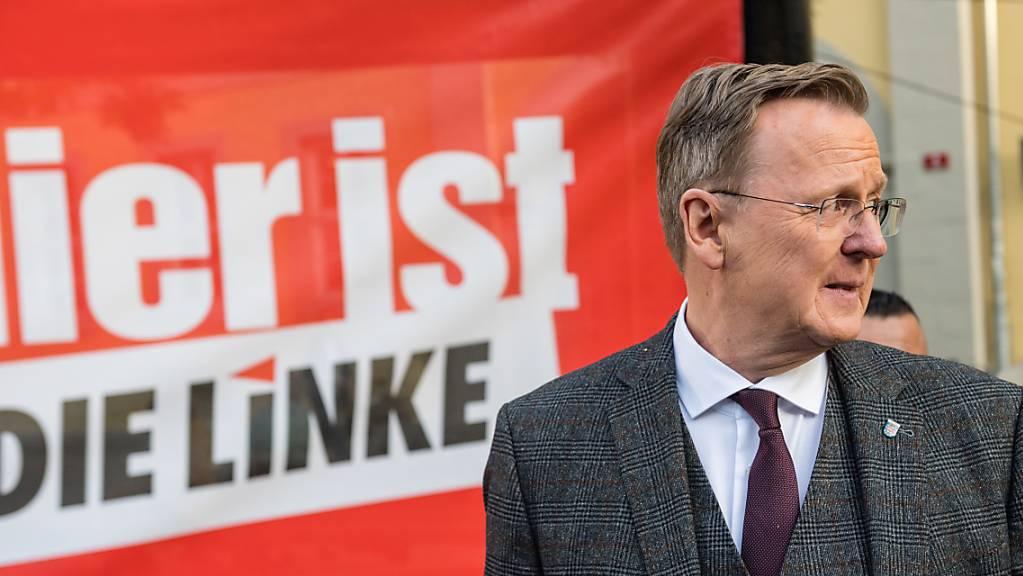 Wahlsieger, aber noch nicht unbedingt wieder Ministerpräsident von Thüringen: Linke-Parteichef Bodo Ramelow in der Landeshauptstadt Erfurt.