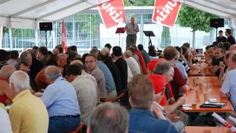 Grossaufmarsch: Beko-Präsident Viktor Haller sprach vor 200 Personen. (Foto: to)