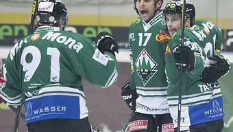 Der EHC Olten gewinnt in Martigny nach Penaltyschiessen.