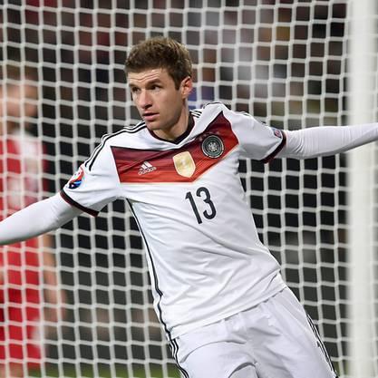 Standesgemässer Sieg für Deutschland (hier Doppeltorschütze Müller)