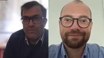 Der Schweden-Korrespondent  im Skype-Interview mit dem Leiter des Ausland-Ressorts, Fabian Hock.