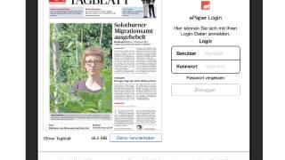Die neue App fürs E-Paper des Oltner Tagblatts.