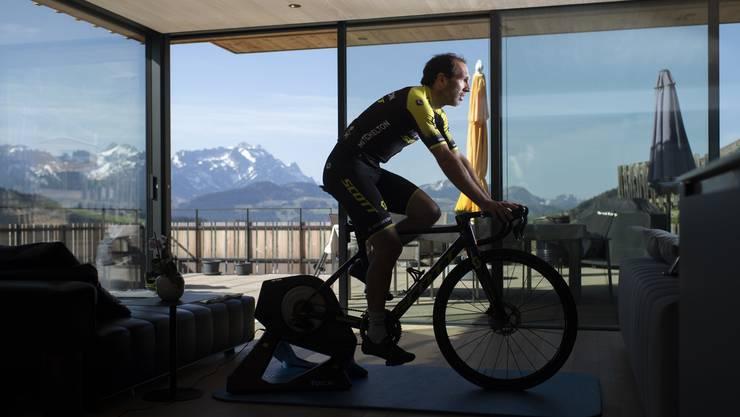Für Michael Albasini könnte die virtuelle Tour de Suisse das letzte Rennen überhaupt sein.