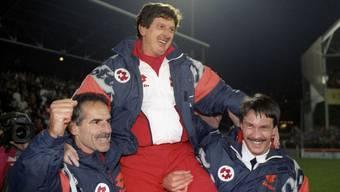 Roy Hodgson trainiert nochmals seine Mannschaft von 1994