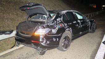 Unfall auf der Autobahn A2, in Fahrtrichtung Basel