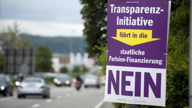Dass es darauf hinausläuft, wurde auch im Solothurner Kantonsrat wieder als Argument vorgebracht: Plakat zu einer Abstimmung im Baselbiet 2013.
