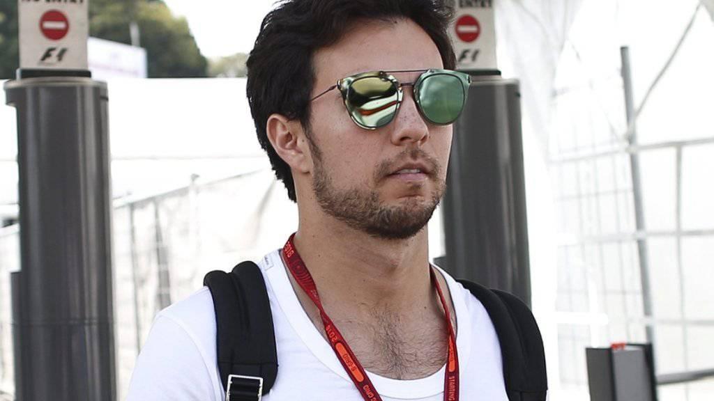 Sergio Perez dürfte künftig Sonnenbrillen einer anderen Marke tragen