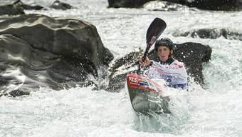 Melanie Mathys im Sprint-Einzel an der WM in Muotathal.