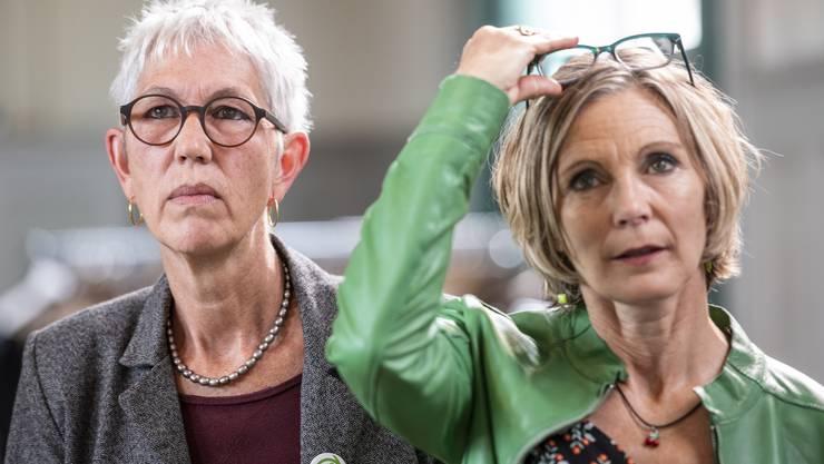 Enttäuschte Befürworter der Fair-Food-Initiative: Regina Fuhrer-Wyss, Präsidentin der Kleinbauern-Vereinigung, mit Maya Graf, Nationalrätin der Grünen.