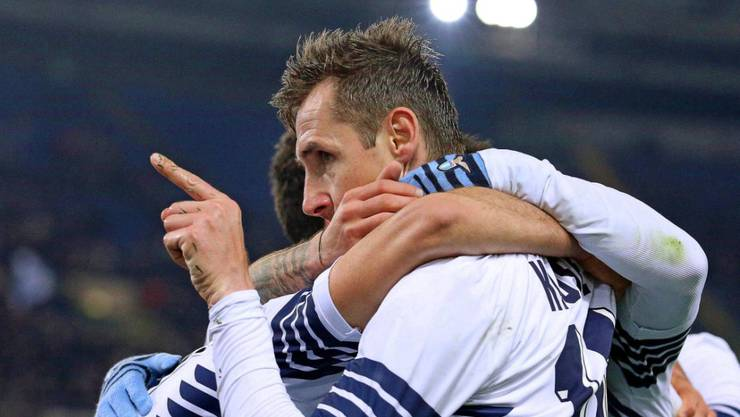 Miroslav Klose war in seiner langen Karriere umjubelt
