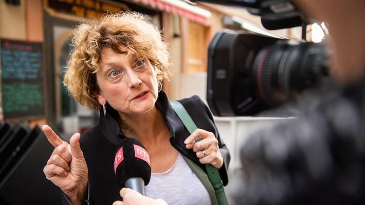Rettet sie die Ehre der Walliser Frauen? Marianne Maret (CVP) könnte es im zweiten Wahlgang in den Ständerat schaffen. (KEYSTONE/Olivier Maire)