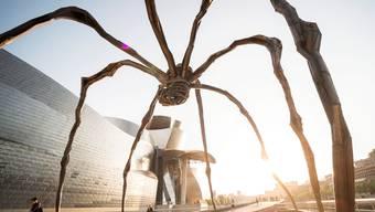 Faszinierend wie bedrohlich: Die neun Meter hohe Bronzeplastik «Maman» der Künstlerin Louise Bourgeois vor dem Guggenheim Museum Bilbao in Spanien. Die Riesenspinne war 2011 in Bern (Bundesplatz) und in Zürich (Bürkliplatz) zu Besuch.
