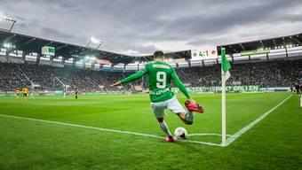 23. Februar, St. Gallen gegen Young Boys. Es ist das bislang letzte Spiel, das in Schweizer Fussballstadien stattgefunden hat.