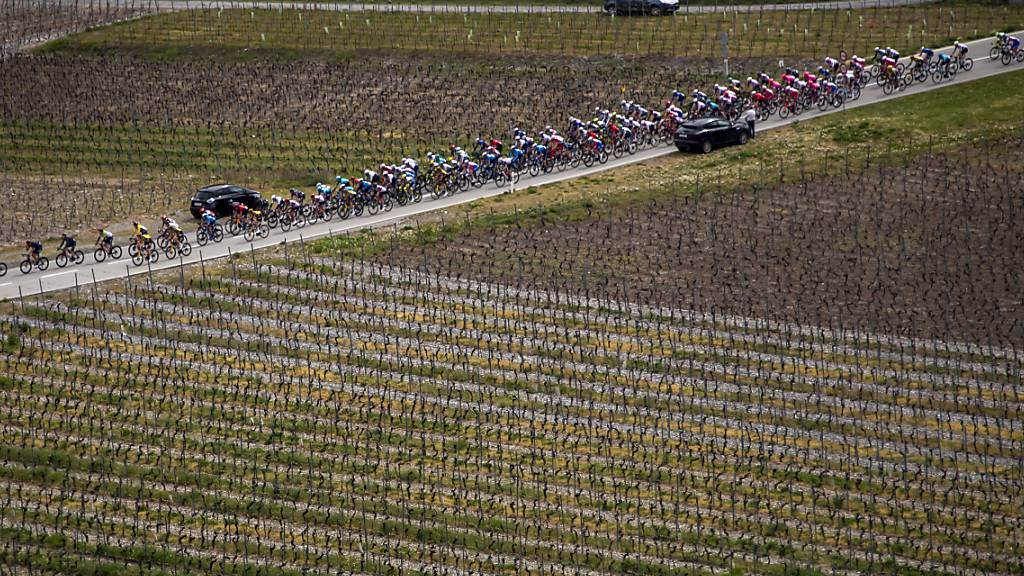 Die 1. Etappe der Tour de Romandie führte nach einer Anfahrt durch das Rhonetal viermal über einen hügeligen Rundkurs, der zu einem Teil aus der Strecke besteht, die an der abgesagten WM im letzten Herbst vorgesehen gewesen wäre
