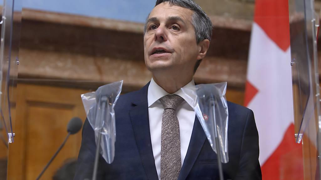 Bundesrat Ignazio Cassis verteidigte im Nationalrat den Abbruch der Verhandlungen.