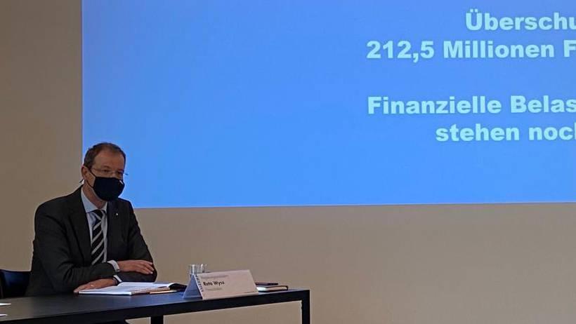 Finanzdirektor Reto Wyss bei der Vorstellung der Kantonsrechnung