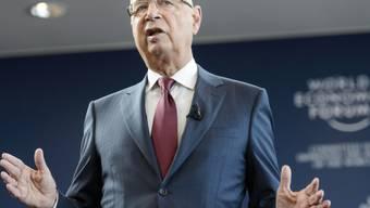 WEF-Gründer Klaus Schwab bei der Vorstellung des Programms 2015