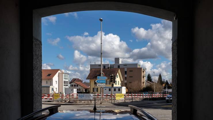 Die Bauarbeiten rund um den Kreuzplatz in Derendingen sind vorläufig sistiert.