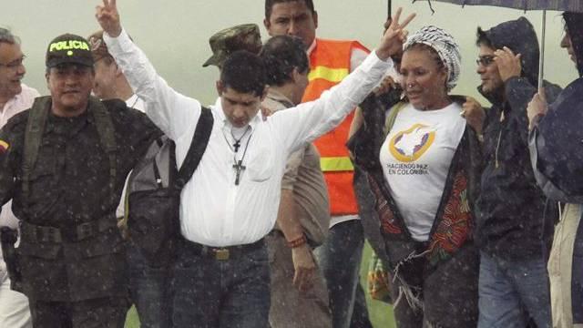 Der freigelassene Polizist Guillermo Solorzano