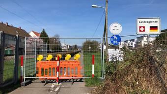 Grenze geschlossen: Hier gab es für Schweizer kein Durchkommen mehr.